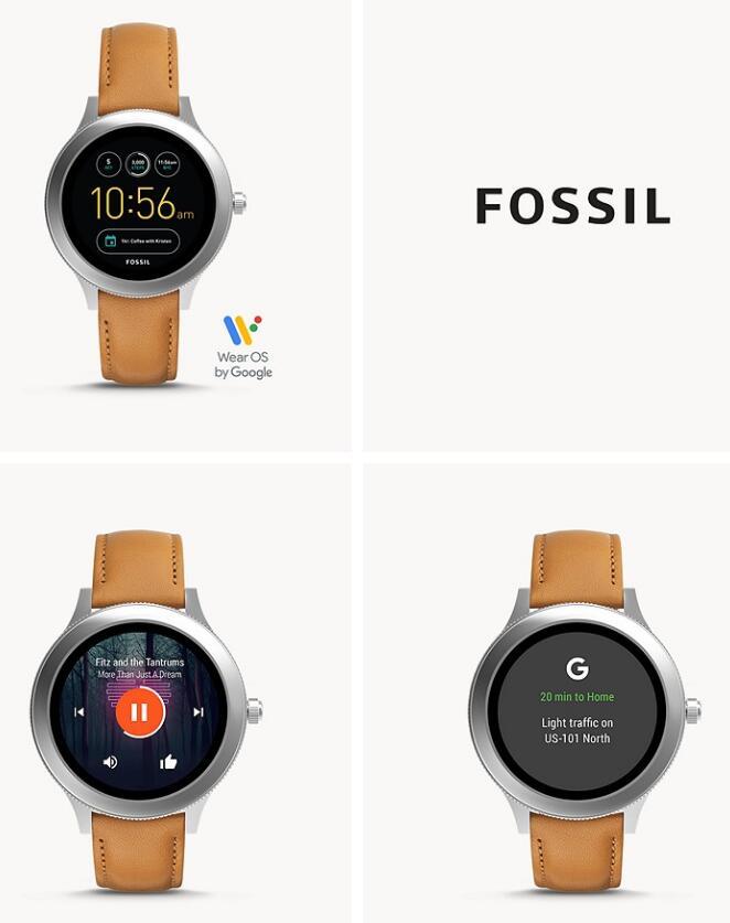Fossil Smartwatch Q Venture 3. Generation Leder Hellbraun (2. Bestpreis)