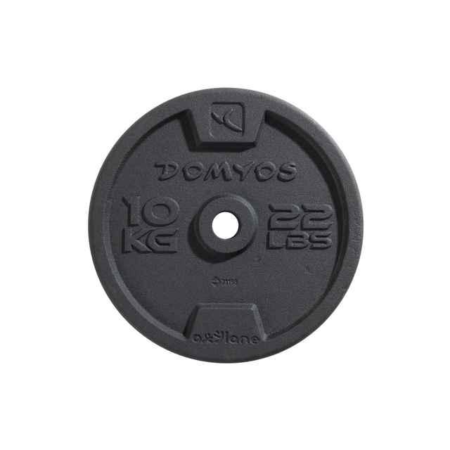 10kg Hantelscheiben Gusseisen Decathlon 28mm Durchmesser