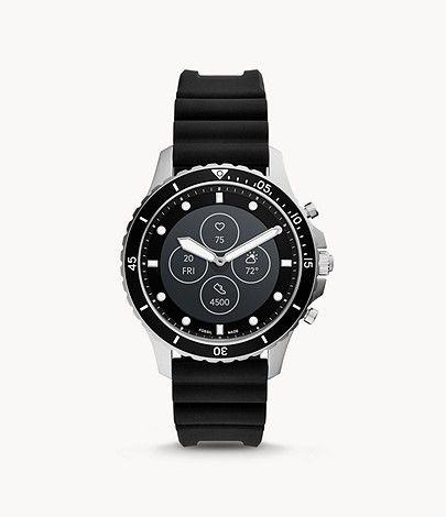 Hybrid Smartwatch HR FB-01 Silikon Schwarz