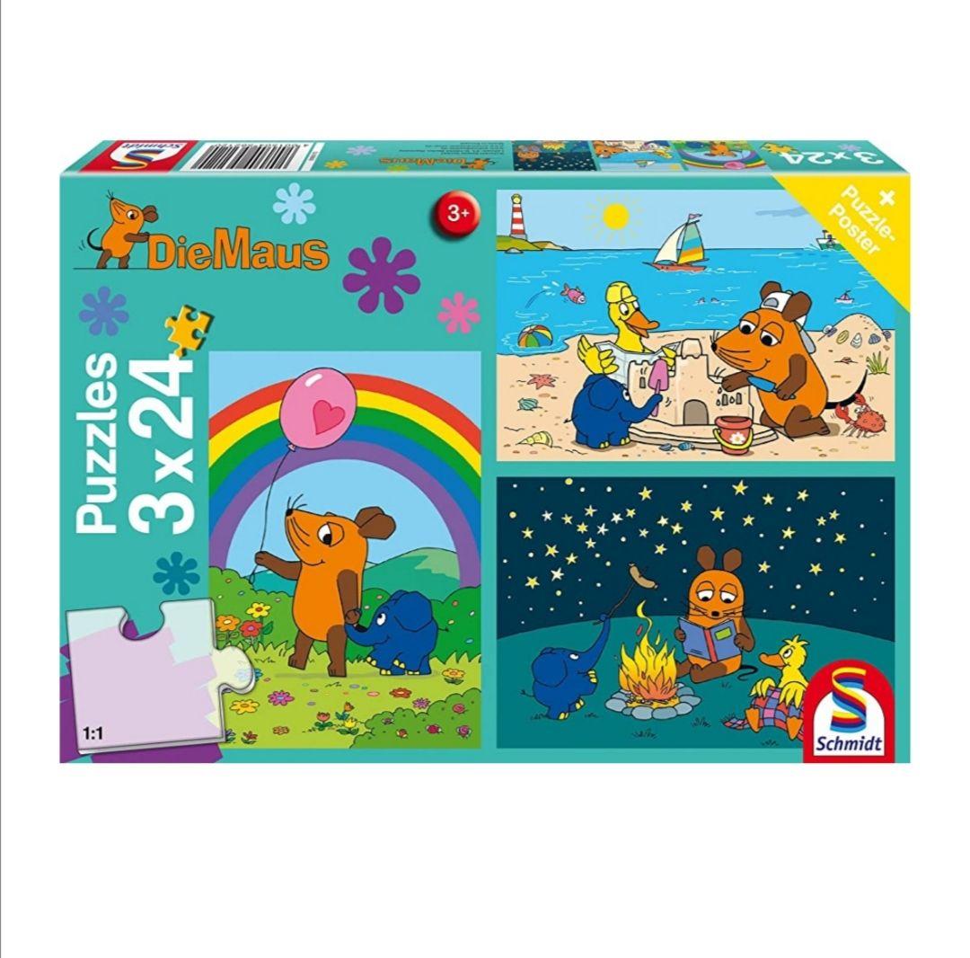 Die Maus Gute Freunde Kinderpuzzle 3x24 Teile [Amazon Prime]