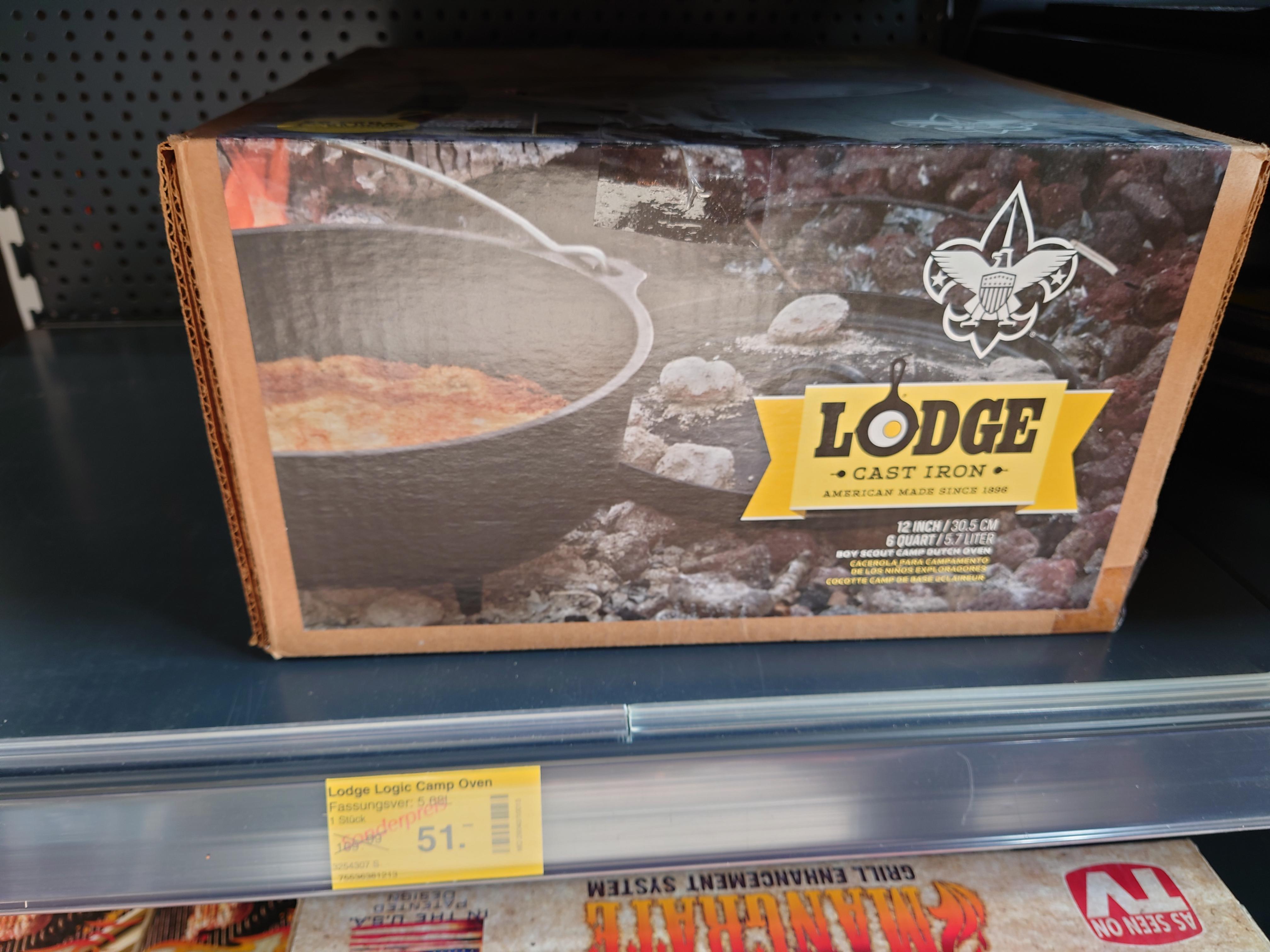 [LOKAL Dehner Witten/NRW?] Lodge Logic Camp Sortiment stark reduziert, z.B. Dutch Oven 30,5cm 5,7l für 51€
