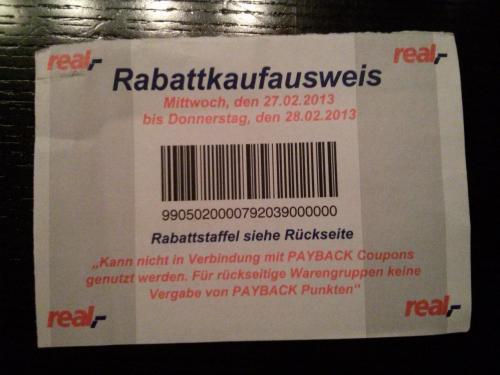 Real Personalverkauf - 27 + 28. Februar 2013 - bis zu 21% Rabatt