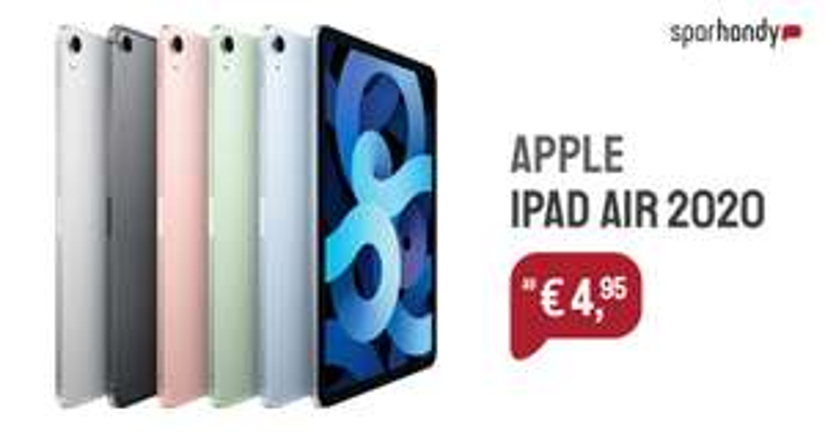 VERTRAG Ipad Air 2020 256gb Cellular mit O2 Free Unlimited Max