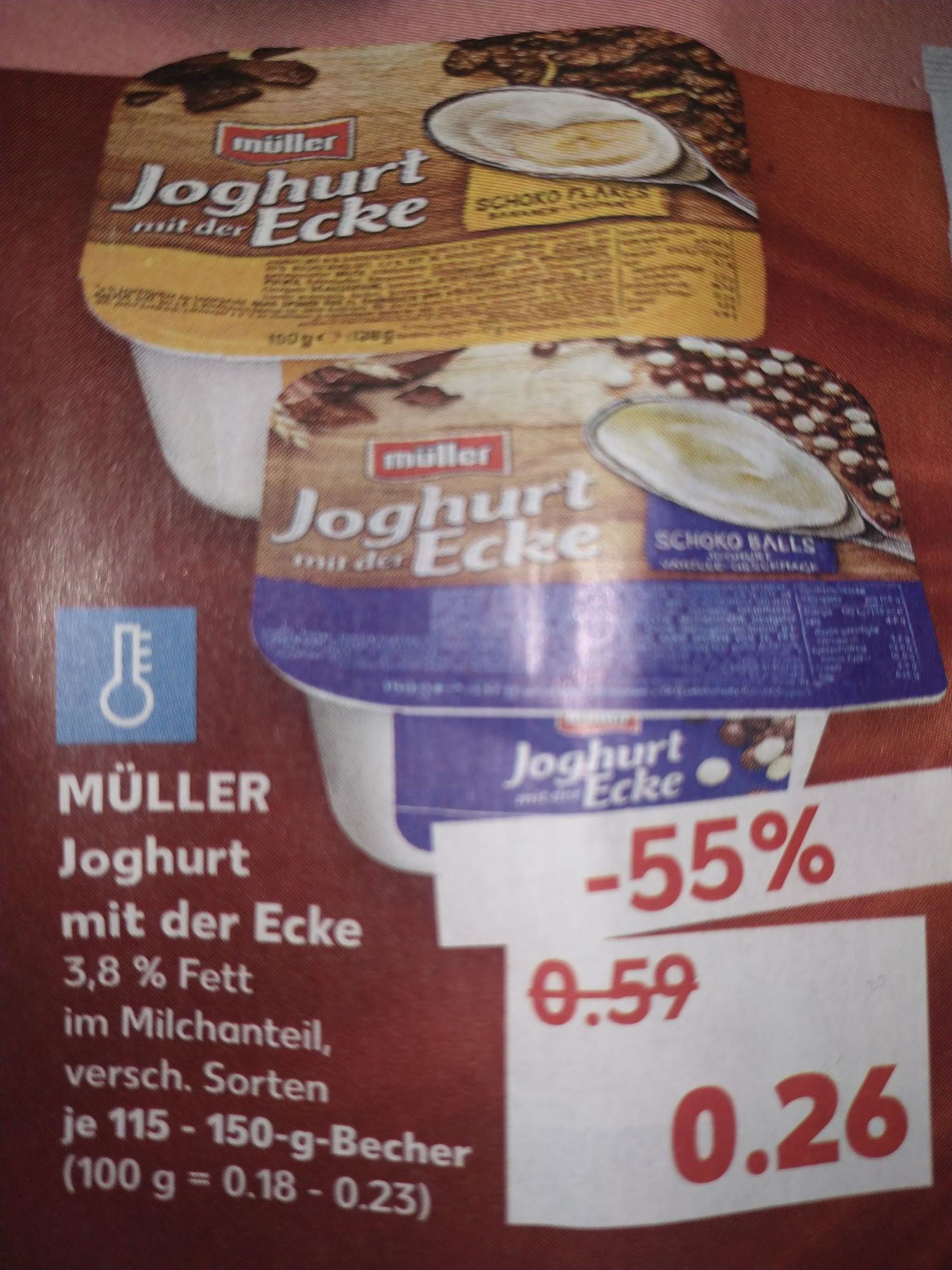 [Kaufland] MÜLLER Joghurt mit der Ecke versch. Sorten