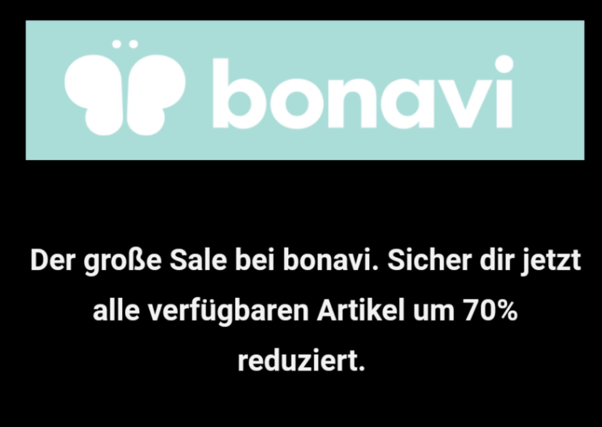 Bonavi 70% auf alles