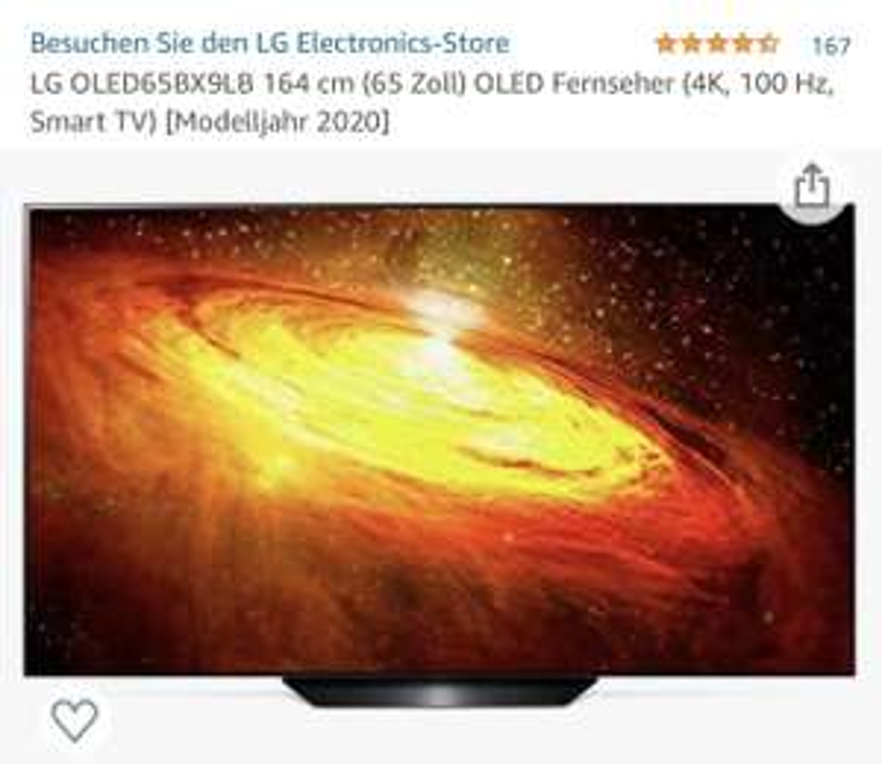 LG OLED BX9LB 65 Zoll