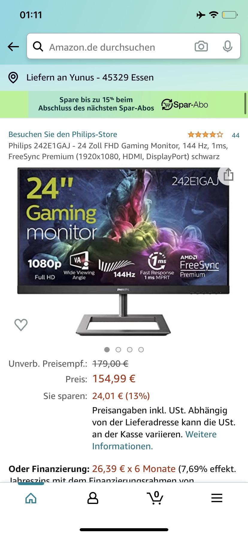 Philips 242E1GAJ - 24 Zoll FHD Gaming Monitor
