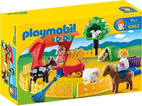 [Amazon Prime] Playmobil 1.2.3 (6963) - Streichelzoo, 25 Teile, ab 18 Monaten