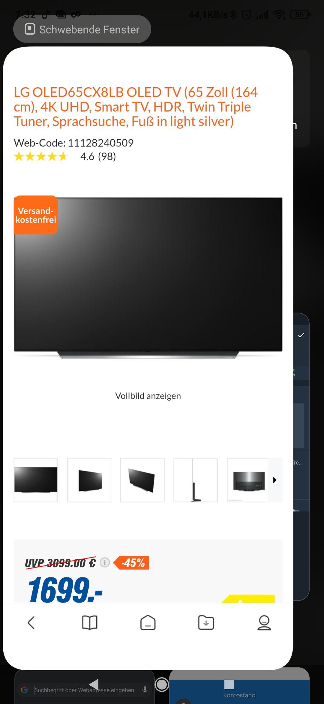 LG OLED 65CX8LB für 1.699 Euro