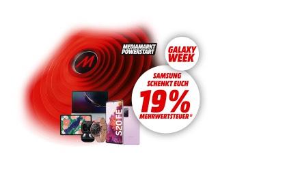 Samsung Galaxy Week 15,966% auf fast alle Smartphone, Tablets, Notebooks, True Wireless Kopfhörer, Smartwatches und Zubehör