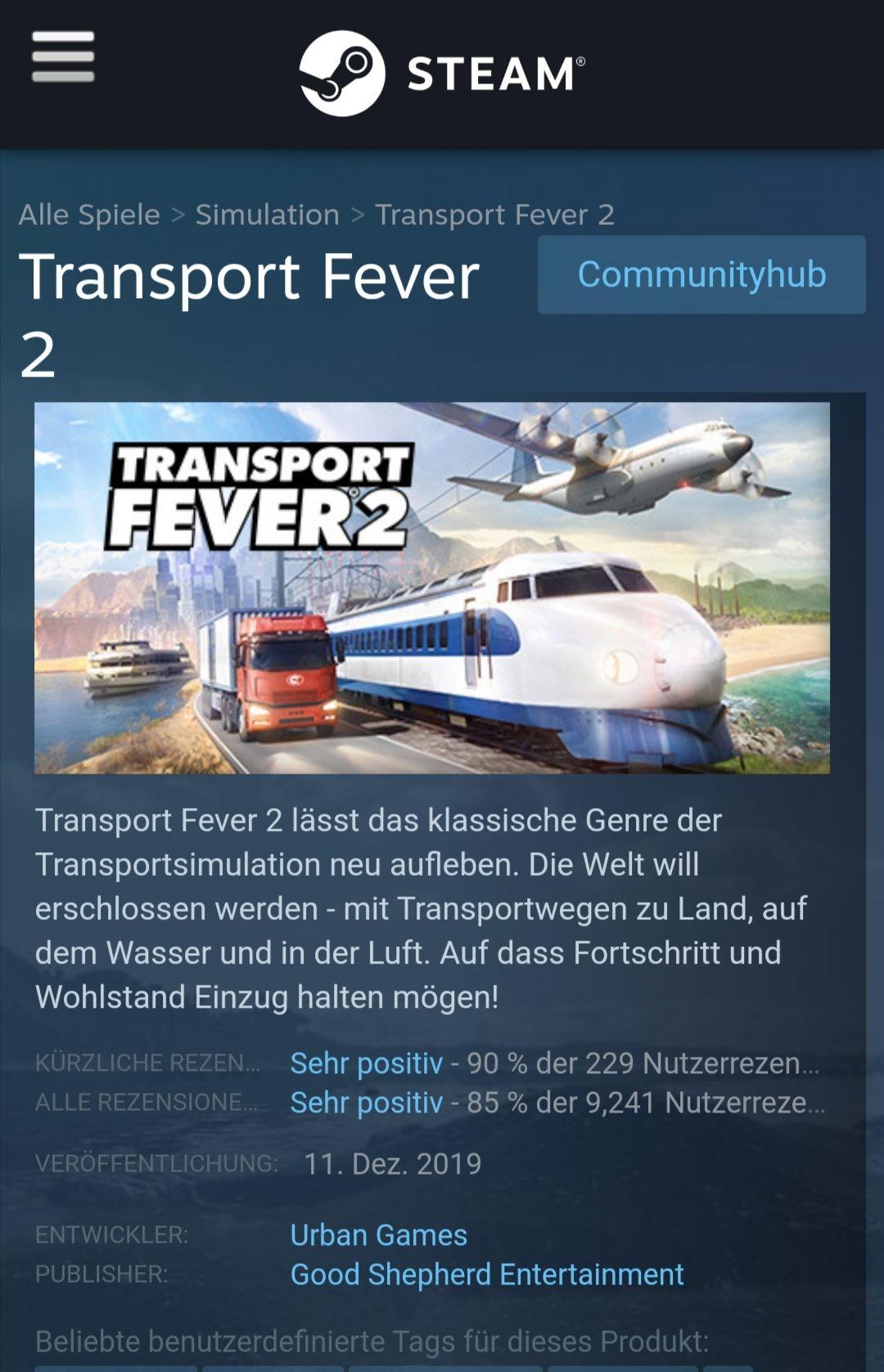 Transport Fever 2 (Steam)