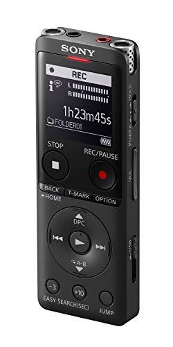 Sony ICD-UX570B Digitales Diktiergerät (OLED Display, 4GB Speicher, Micro SD) schwarz