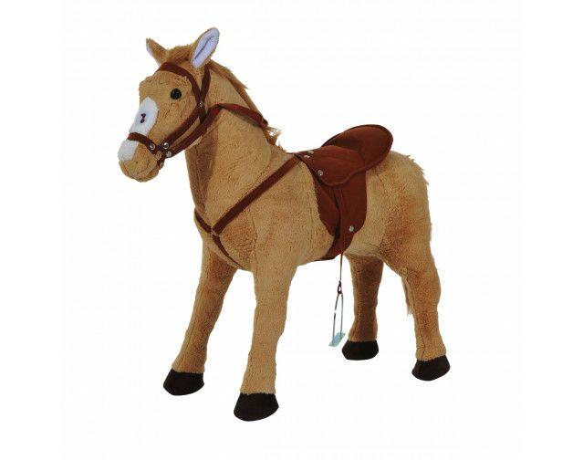 [poco.de] HOMCOM-Sammeldeal, Kinderpferd, Stehpferd mit Sound, 48 cm Sitzhöhe, beige