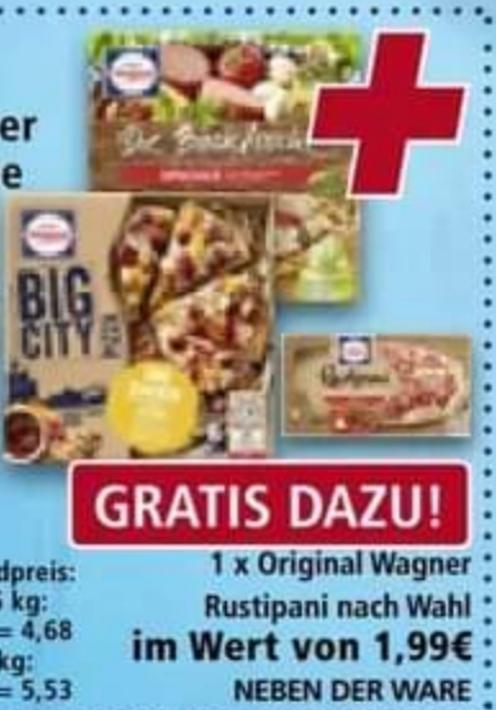 2 × Big City oder BackfrischePizza für 2,98€ + Rustipani nach Wahl Gratis dazu [real] Ab: 15.02.