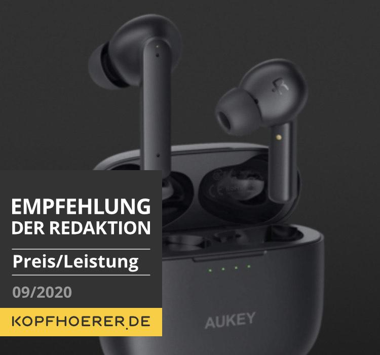Aukey EP-N5 - Preiswerte, gut klingende True Wireless In-Ears Bluetooth Kopfhörer mit ANC