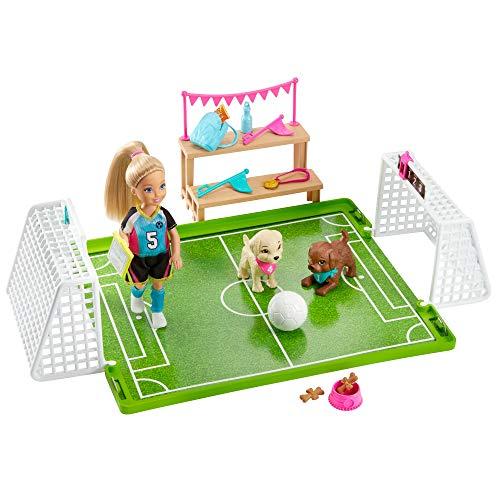 (Amazon Prime) Barbie-Traumvilla Abenteuer Chelsea Fußballerin Puppe und Spielset mit Zubehör