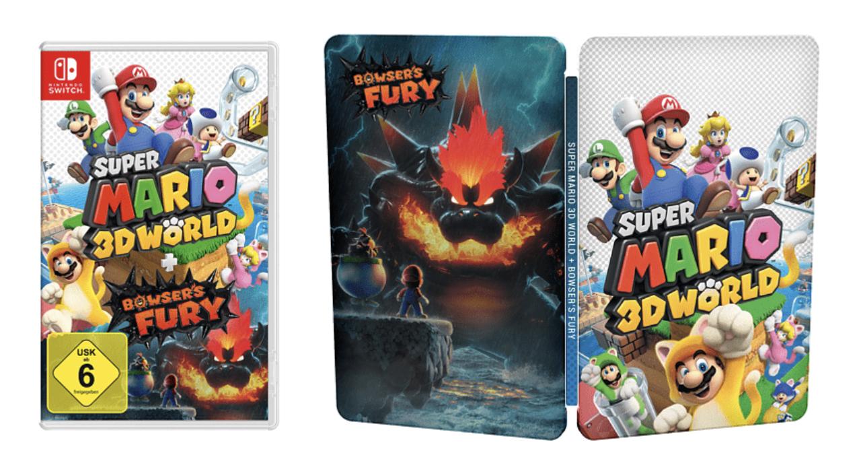 Super Mario 3D World + Bowser's Fury (inklusive limitiertes Steelbook) - [Nintendo Switch]