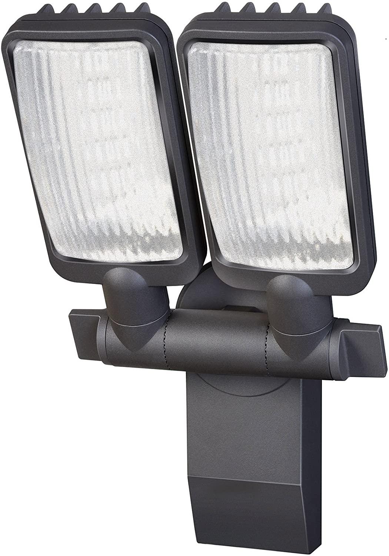 Brennenstuhl Duo Premium City LED-Außenstrahler (30W, 2160lm, 6400K, drehbar, Aluminiumgehäuse, IP44)