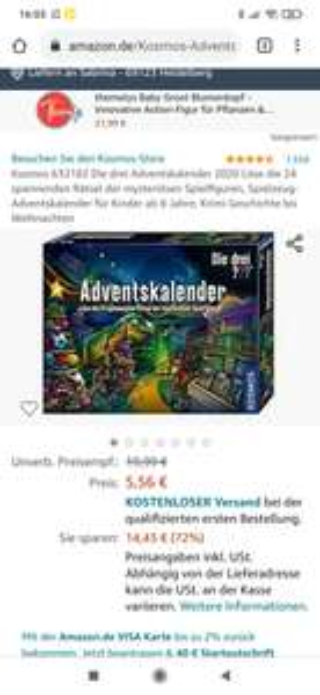 Prime Amazon 3 ??? Fragezeichen Adventskalender 2020