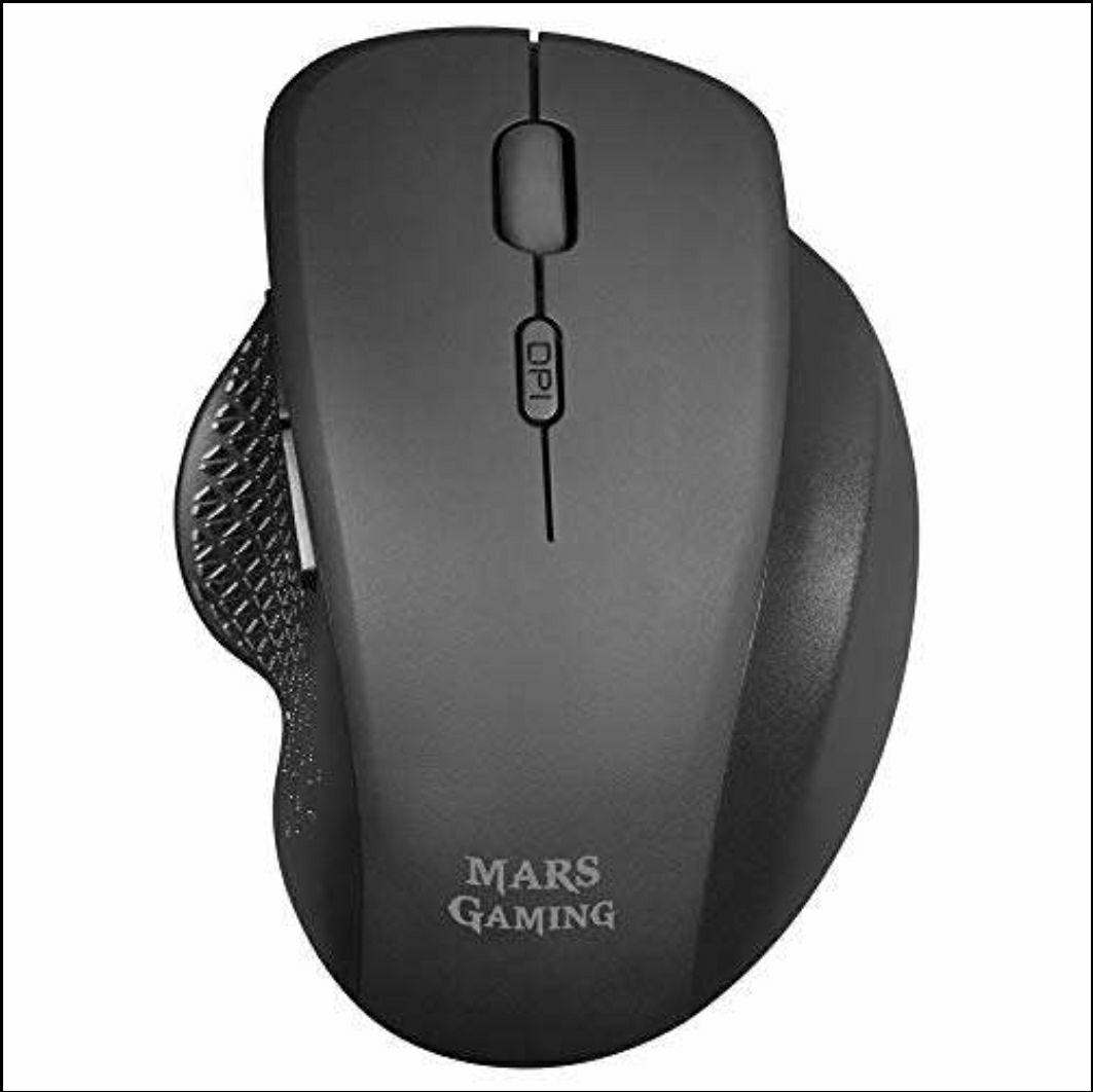 MARSGAMING MMWERGO Schwarze, ergonomische kabellose Maus für PS4 / PS5 / XBOX / PC / Mac