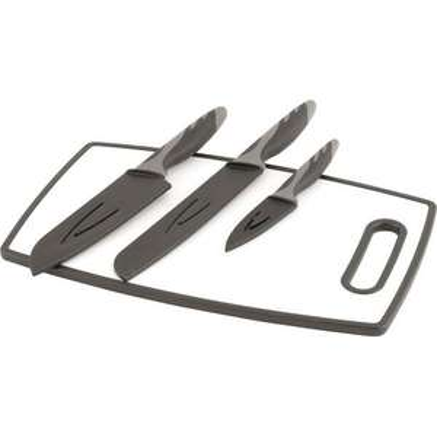 [campz.de] Outwell Caldas Messer-Set mit Schutzhüllen und Schneidebrett, 4 Teile und ein weiteres Messer-Set
