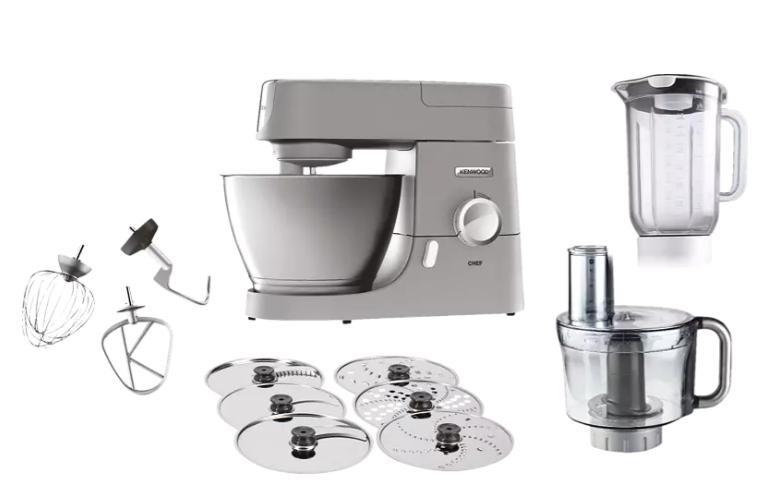 [Mediamarkt] KENWOOD KVC3150S Chef Küchenmaschine inkl. 5 Zubehörteile Silber (Kapazität: 4,6 Liter, 1000 Watt) ab 289,-€