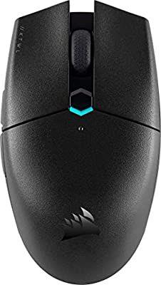 Corsair KATAR PRO WIRELESS Gaming-Maus (10.000 DPI Optischer Sensor, Symmetrische Form, Unter 1 ms Wireless-Technologie