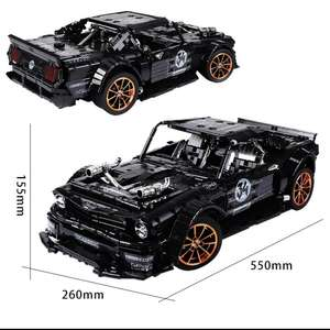 [Klemmbausteine] Ford Mustang Hoonicorn MOC 3169 Teile ohne RC aus Polen