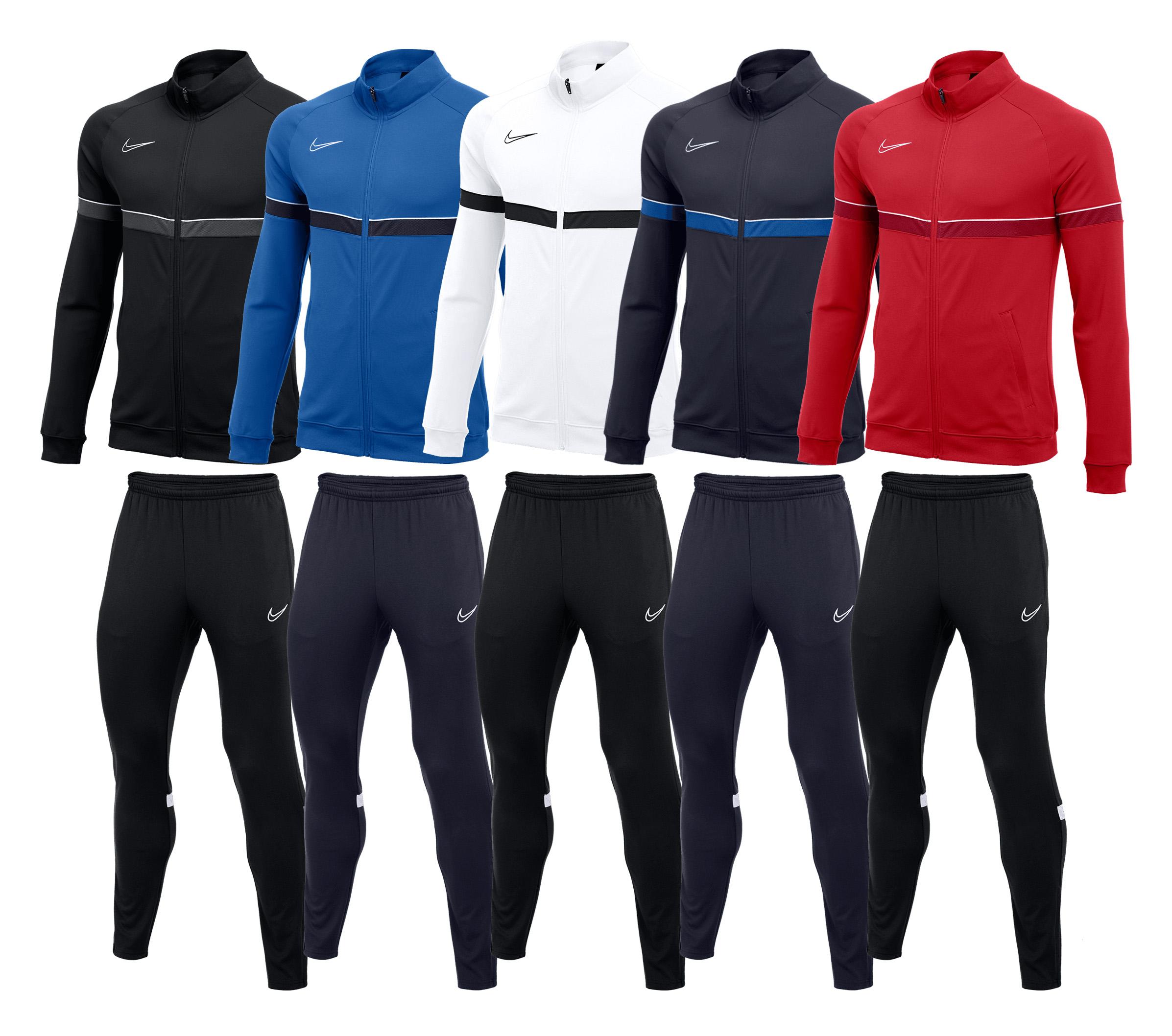 Nike Trainingsanzug Academy 21 (bestehend aus Trainingsjacke und Trainingshose, Gr. S - XXL,6 verschiedene Farben)