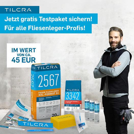 [TILCRA] Für Gewerbetreibende - Jetzt Fliesenlegertestpaket kostenlos bestellen