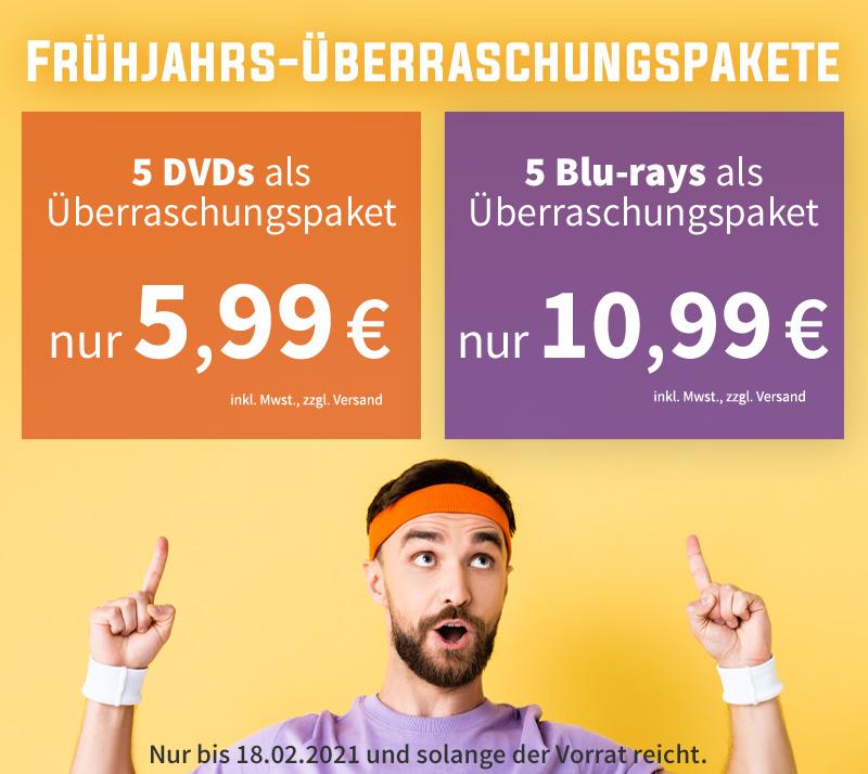 Videobuster - Überraschungspakete (5 BluRays für 10,99 / 5 DVD für 5,99 Euro)