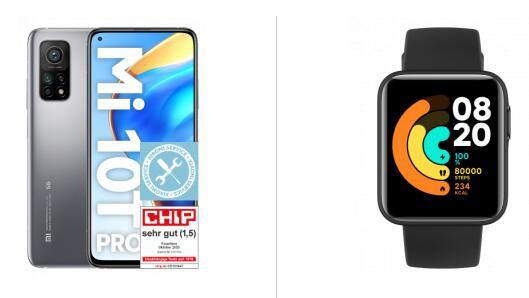 Xiaomi Mi 10T Pro 128GB und Watch Lite im Vodafone Otelo (5GB LTE, Allnet/SMS) mtl. 14,99€ einm. 153,99€   keine AG