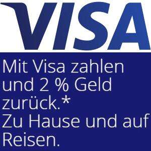 2% Cashback auf alle Visa-Zahlungen bis 25€ vom 10.03.-06.04.2021 (max. 50€ Cashback)