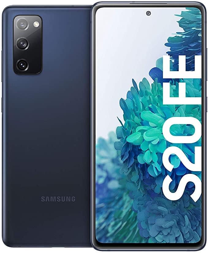 """Samsung Galaxy S20 FE - 6.5"""" Dual-SIM Smartphone (8GB/256GB, 120 Hz, USB-C 3.1, Exynos 990, 4500mAh) in Cloud Navy/Cloud White für 543,56€"""