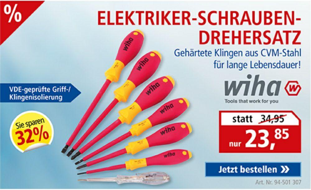 Elektriker-Schraubendrehersatz WIHA SoftFinish electric , NL anfordern 5€ Rabatt zusätzlich