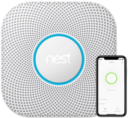 Google Nest Protect V2 Rauch- und Kohlenmonoxidmelder mit Nachtlicht