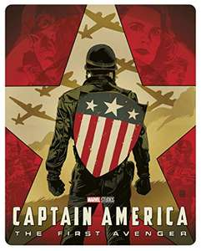 Marvel *Captain America : The First Avenger* 4K Ultra HD + Blu-Ray [Mondo SteelBook]