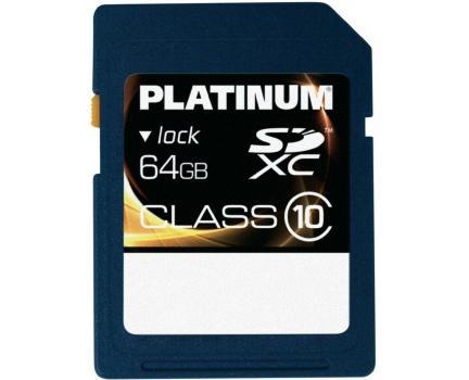 Platinum SDXC Karte 64GB Class 10 für 29,74 € @SMDV