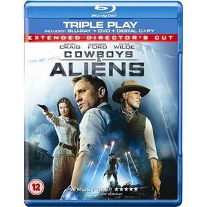 (UK) Cowboys & Aliens: Double Play (Blu-ray + DVD + Digital Copy) inkl. deutscher Tonspur für 5.49€ @ Play