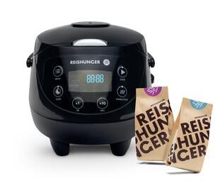 Reishunger Digitaler Mini Reiskocher + 200g Jasmin Reis + 200g Bio Basmati Reis