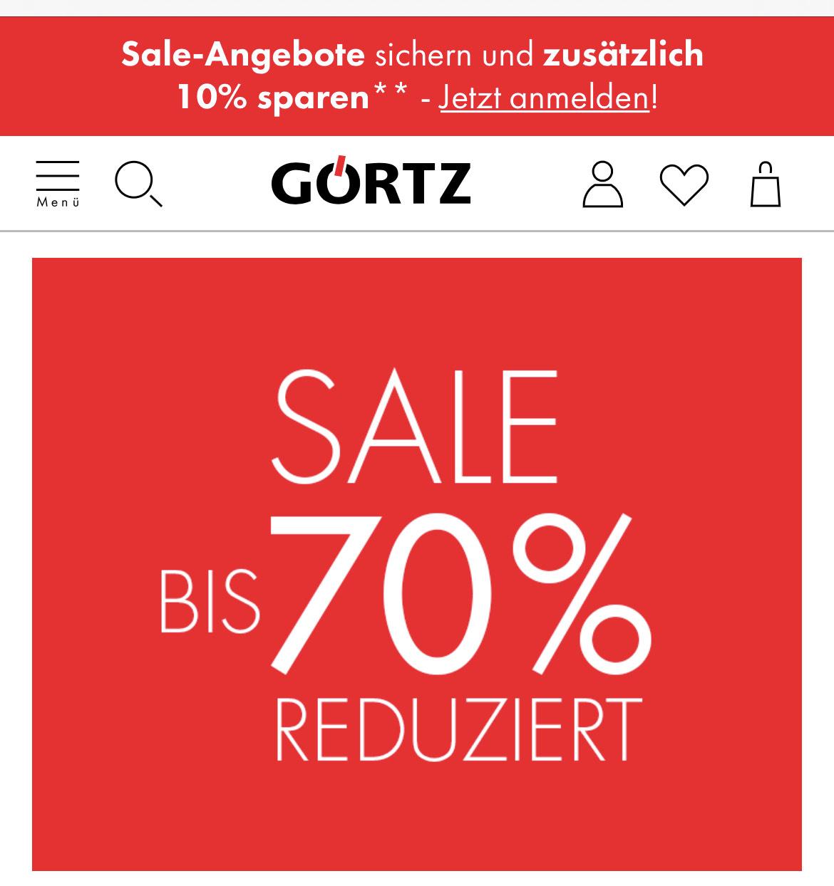 Bis zu 70% im Sale bei Görtz + 10% on top durch Newslettergutschein + 3% CB über shoop