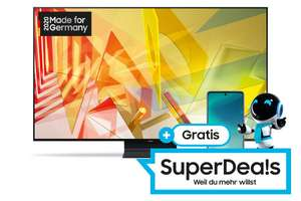 Samsung QLED GQ65Q90T TV + Samsung Galaxy A71 (bei Kauf vom 17.02.21-14.03.21) 1.399 EUR | Samsung QLED GQ75Q90T 1.999 EUR+350 EUR Cashback