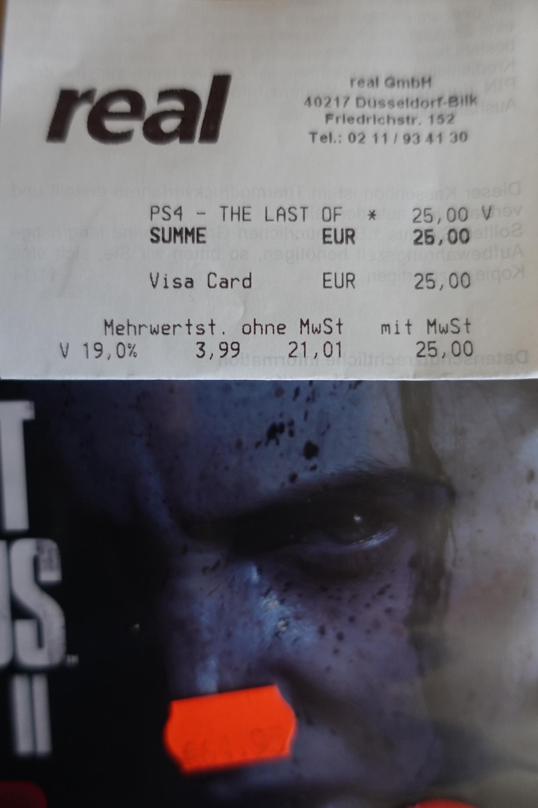 [Lokal real Düsseldorf] The Last of Us Part II PS4