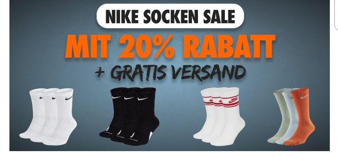 Nike Socken Sale 20% Für Nike Member + Gratis Versand