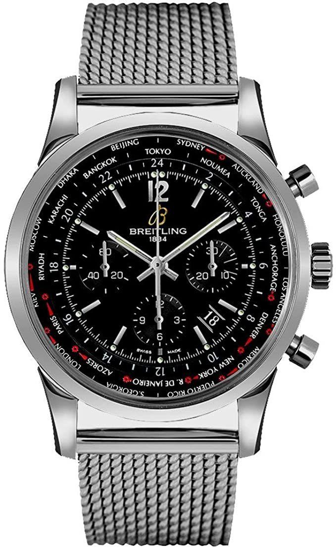 Breitling Transocean Chronograph Chronometer Unitime Pilot Automatikuhr mit Manufakturwerk