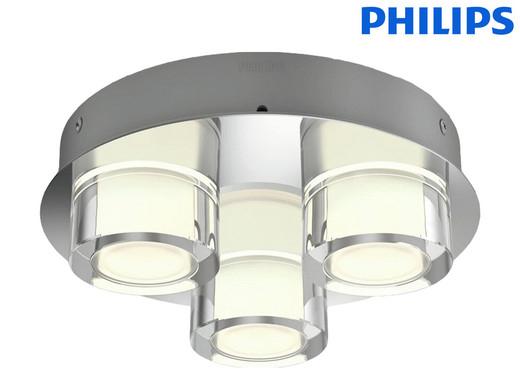 Philips myBathroom Resort LED-Deckenleuchte (3x 4.5 W, 3x 500 lm, IP44, Warmweiß) [iBOOD]