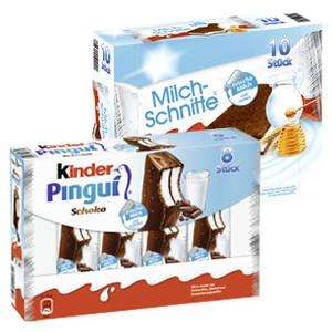 Kinder Pingui oder Milchschnitte bei Real 8er bzw 10 er Pack nur 1,79 €