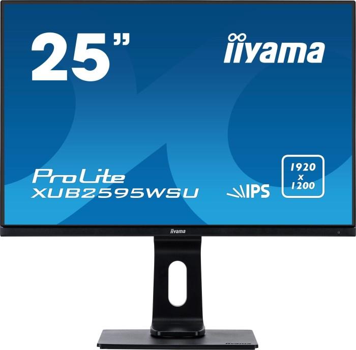Iiyama ProLite XUB2595WSU LED-Monitor 63.5cm (25 Zoll) EEK A (A+++ - D) 1920 x 1200 Pixel WUXGA 4 ms VGA, HDMI®, DisplayPort, USB