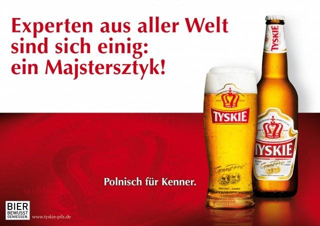 Kasten Tyskie Bier-Piwo polnischer Durtslöscher bei REAL