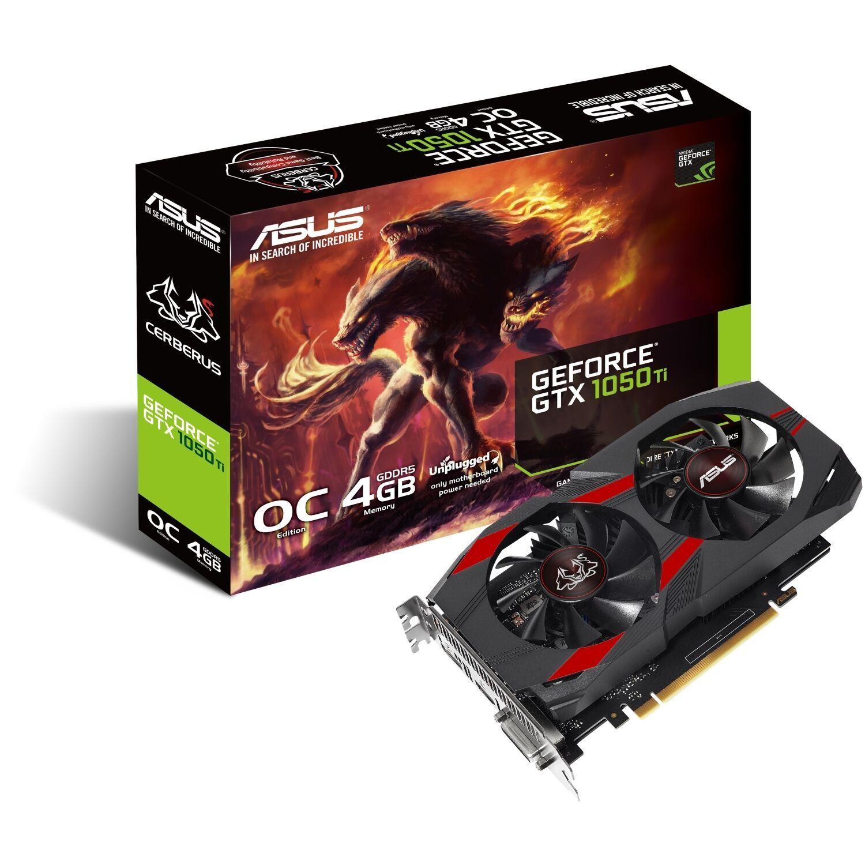 ASUS Cerberus GeForce GTX 1050 Ti OC 4GB GDDR5 Grafikkarte